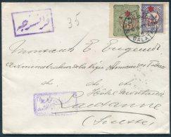 1916 Turkey Galata WW1 Provisionals Censor Cover - Lausanne Switzerland. - 1858-1921 Ottoman Empire