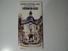 NORMANDIE. AGENDA CANTONAL DE VERNON SUD 1988. EURE PHOTOS TELLES JEAN CLAUDE ASPHE / LIEUTENANT COLONEL MARTIN / MARCE - Normandie