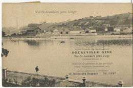 Val St Lambert Seraing Etablissements Decauville Ainé Locomotives Wagons Etc Bd Anspach Bruxelles - Seraing