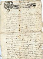 216. FISCAL ESPAGNE DOCUMENT 1809 A DECHIFFRER - Autogramme & Autographen