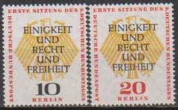 Berlin 1957 Mi-Nr.174 -175 ** Postfr.Erste Konstituierende Sitzung Des Bundest. In Berlin B 411a )günstige Versandkosten - Neufs