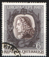 AUSTRIA - 1985 - EUROPA UNITA: ANNO EUROPEO DELLA MUSICA - JOHANN JOSEPH FUX - COMPOSITORE - USATO - 1945-.... 2a Repubblica