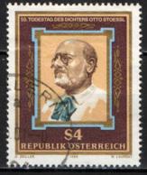 AUSTRIA - 1986 - OTTO STOESSL - SCRITTORE E POETA - USATO - 1945-.... 2a Repubblica