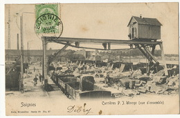 Soignies Carrieres P.J. Wincqz Vue D' Ensemble Nels Serie 68 No 37 Train 1906 Vers Longwy Bas - Soignies
