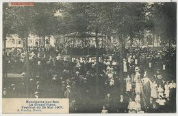 Montignies Sur Roc La Grand' Place Festival Du 26 Mai 1907 Edit A. Gaudry Roisin Vers Charcutière Villemomble - Belgique