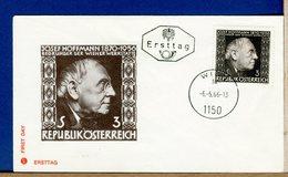 AUSTRIA - FDC  1966  -  JOSEF HOFFMANN - FDC