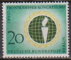 Berlin 1957 Mi-Nr.177 ** Postfr. Welt-Frontkämpfer-Kongress In Berlin B 713a )günstige Versandkosten - Neufs