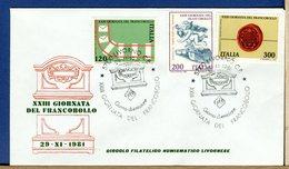ITALIA - FDC  1981  -  GIORNATA DEL FRANCOBOLLO    Annullo Figurato - 6. 1946-.. Repubblica