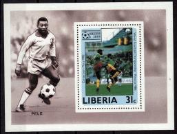 LIBERIA    EPREUVE DE LUXE  N° 1018   * *  Cup 1986   Football  Soccer Fussball Pele - 1986 – Messico