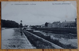 85 : Fontenay-le-Comte - Le Halage - Animée : Petite Animation - Plan Inhabituel - (n°13417) - Fontenay Le Comte