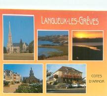 Cpsm -    Langueux Les Gréves -  L 'église  ,le Bord De Mer Et Le Centre Commercial    H1150 - Other Municipalities
