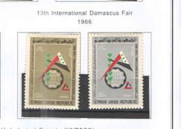 Syria PA 1966 13 Fiera Damasco  Scott.C 369+370+ NEW See Scan On Scott.Page; - Siria