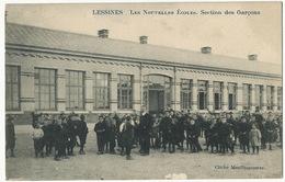 Lessines Les Nouvelles Ecoles . Section Des Garçons Cliché Meullemeestre Lessen Vers Gonesse - Lessines