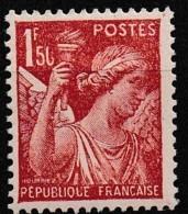 1944 Variété Y&T 652 0 De 50 Cassé N** - Errors & Oddities