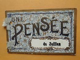 "JAILLON  (Meurthe & Moselle) -- Carte Fantaisie Avec Ruban "" Une Pensée De Jaillon "" - France"