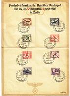 Série Mi. 609-616 Für Die XI. Olympische Spiele In Berlin S/ Document - Germany