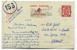 Entier Postal De Belgique Pour Le Curé De  LOUVIL   Env De Cysoing  1945   A  VOIR  !!!! - Andere Gemeenten
