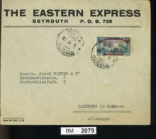BM2079, Libanon, 1928, Beyrouth - Radeberg In Sachsen, Luftpost - Liban
