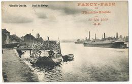 Flémaille Grande Quai Du Halage  Peniche Bois Fancy Fair 23 Mai 1909 Edit Pirard - Flémalle
