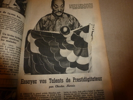 1947 MÉCANIQUE POPULAIRE :Être Magicien;Le Charronnage;Calibre Et Plombs De Chasse;Conseils-achat-moto-ocassion;etc - Sciences & Technique