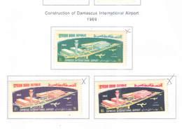 Syria PA 1969 Costruzione Aereoporto Damasco   Scott.C 426/428 New See Scan On Scott.Page; - Siria
