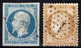 France YT N° 10 Et N° 36 Oblitérés. Premier Choix. A Saisir! - 1852 Louis-Napoléon