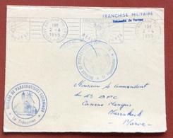 PARACADUTISMO   FRANCHIGIA MINITARE DA BAYONNE A MARRAKECH BRIGADE DE PARACHUTISTES COLONIAUX 2/4/1955 - Francobolli