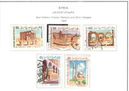Syria PA 1969 Baal Tempio E Palmyra    Scott.C 429/433 Used  See Scan On Scott.Page; - Syria
