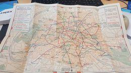Carte Du Metro - Fetes De Paris 26 Avril Au 14 Juin 1936 - Roadmaps