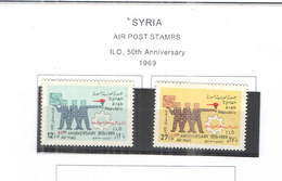 Syria PA 1969 ILO 50 Ann.   Scott.C 434/435 NEW  See Scan On Scott.Page; - Siria