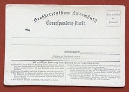 LUSSEMBURGO  LUXEMBURG INTERO POSTALE  1870  R - Francobolli