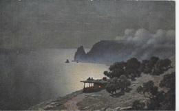 AK 0061  Kalmykoff , G. O. - Mondschein-Idyll Am Meer / Moderne Russische Meister Um 1910-20 - Malerei & Gemälde