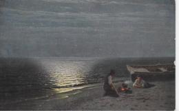 AK 0061  Kalmykoff , G. O. - Fischers Abendbrot / Moderne Russische Meister Um 1910-20 - Malerei & Gemälde