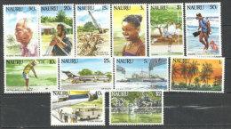 La Vie à L'île Nauru. 12 T-p Neufs **.série Complète Yvert Nr 289/300.  Côte 20,00 € - Nauru