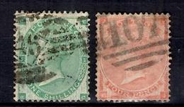 Grande-Bretagne YT N° 24 Et N° 25 Oblitérés. B/TB. A Saisir! - 1840-1901 (Victoria)