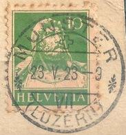 Tell 153, 10 Rp.grün  MÜNSTER (LUZERN)         1923 - Gebraucht