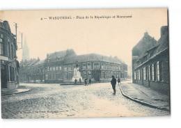 CPA 59 Wasquehal Place Republique Et Monument - France