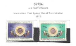 Syria PA 1971 Anno Contro Discrim.Razziale   Scott.C 487+488 NEW  See Scan On Scott.Page; - Siria