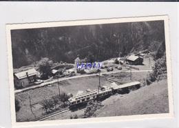 """CPSM 9X14  De SUISSE - CAMPING T.C.S. """" La MEDETTAZ """" Les MARECOTTES - CACHET - TRAIN - VS Wallis"""