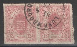 Luxembourg - YT 18 Paire Oblitérée - 1859-1880 Armoiries