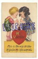 My Valentine. Deux Enfant Qui Se Partagent Un Cocktail. 1936 - Saint-Valentin