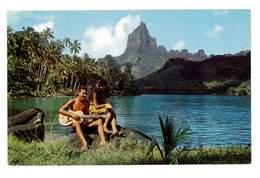 CPSM TAHITI LES CHANTEURS A MOOREA - Tahiti
