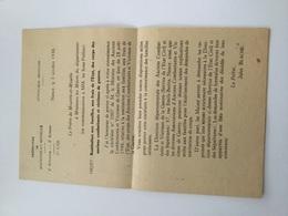 Note Préfecture Meurthe-et-Moselle Restitution Aux Famille Des Corps Des Combattants Tues 39-45 - 1939-45