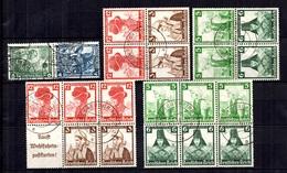 Allemagne Paires De Carnets Oblitérés 1933/1935. Bonnes Valeurs. B/TB. A Saisir! - Germany