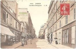 Dépt 75 - PARIS (16è Arr.) - La Rue Pauquet - C. M. N° 600 - Colorisée - Arrondissement: 16