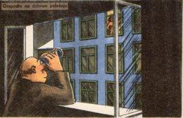 [DC7804] CPA - CARTOLINA UMORISTICA FORSE SLOVENA - GOSPODIN NO DOBROM POLOZAJU - Non Viaggiata - Old Postcard - Humor