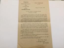 Note Préfecture Meurthe-et-Moselle État Français Surveillance Des Forêts Contre La Résistance 1943 39-45 - 1939-45
