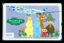 Télécarte  JAPON * FINNAIR * MOOMINS (2440)  AVIATION * AIRLINE Phonecard  JAPAN AIRPLANE * FLUGZEUG - Avions