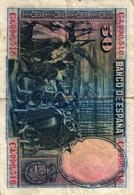 ESPAGNE - CINCUENTA PESETAS  -1928 - VELASQUEZ - [ 1] …-1931 : Prime Banconote (Banco De España)