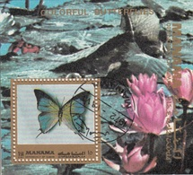 Bf. 221A Manama 1972 Farfalle Butterfly Papillons Mariposas : Fiori - Ninfee - Manama